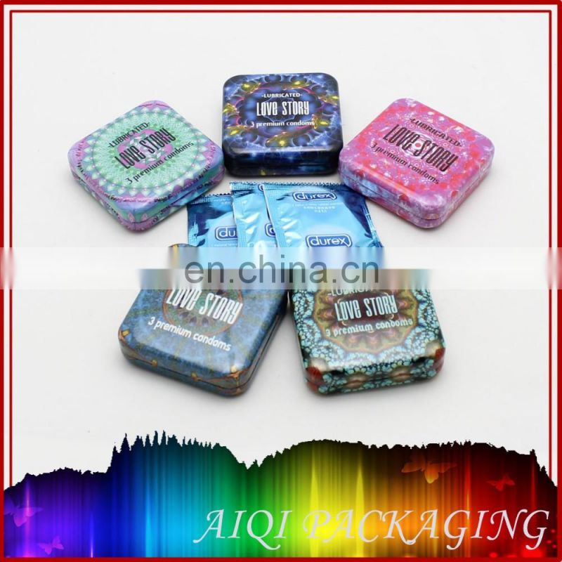 2016 newest hot selling condom tin box