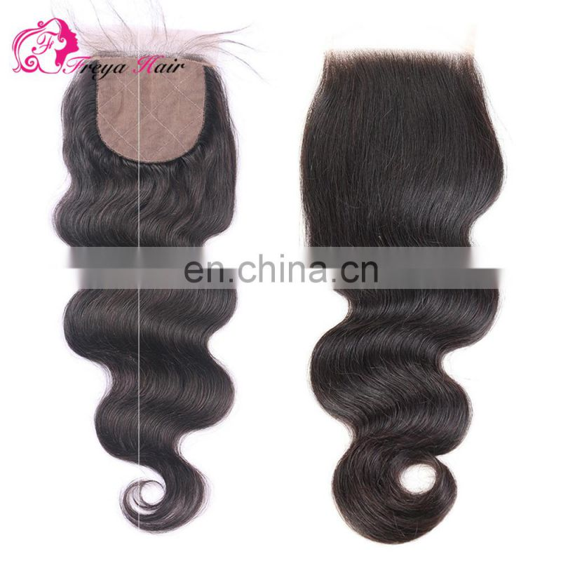 Aliexpress Peruvian human hair body wave top quality virgin Brazilian hair cheap silk base Lace Closure