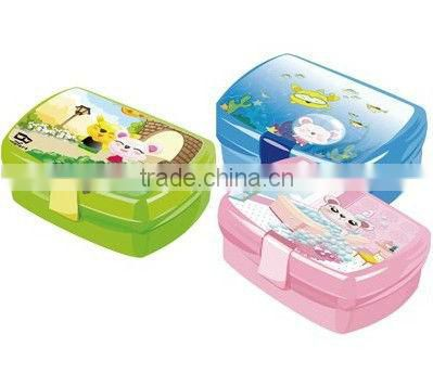 lovely colorful printing cartoon lunch box for kids