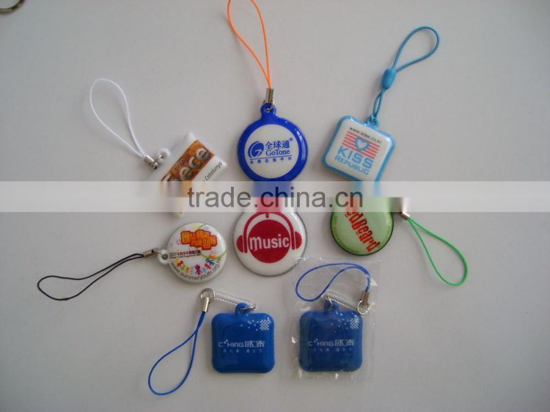 Promotional kids mobile phone cleaner chain with string