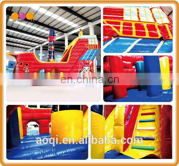 AOQI new design commercial use inflatable pirate ship amusement park for sale