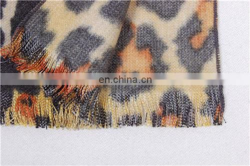 Fashion Animal Patterns Leopard Silk Lady Scarfs