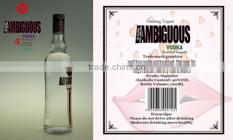 Fresh and pure vodka from China with factory price and good quality