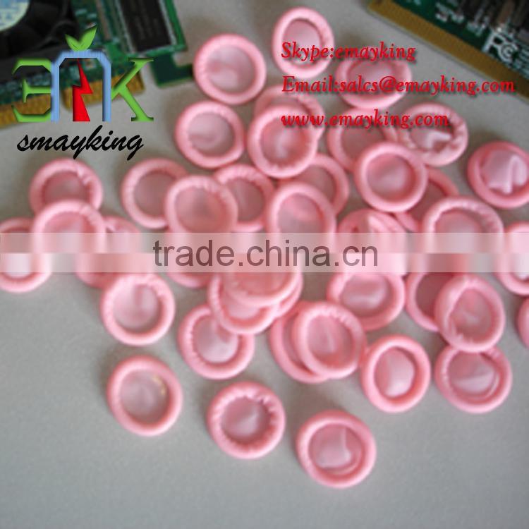 High Grade Clean room/ Industrial Quality Anti-static Pink Latex Finger Cots, Cheap Disposable ESD Finger Stall