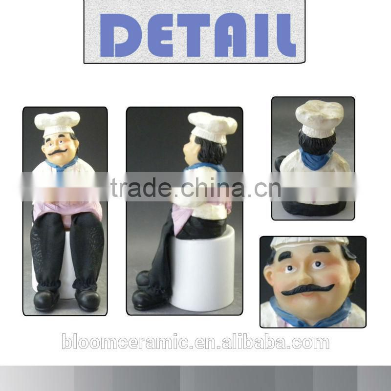 2014 Newly design chef toy/resin chef figurines