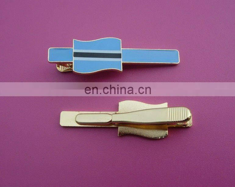 blue fashion creaty blank tie bar/tie pin/tie clip promotional gift Free mold