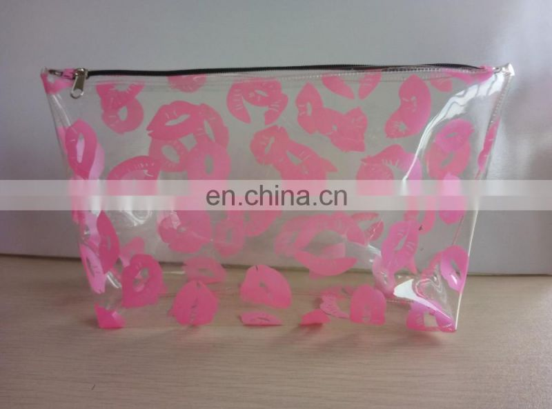 customize your fashion and hot sale Flaming Lips pvc cosmetic packing bag make up packing case
