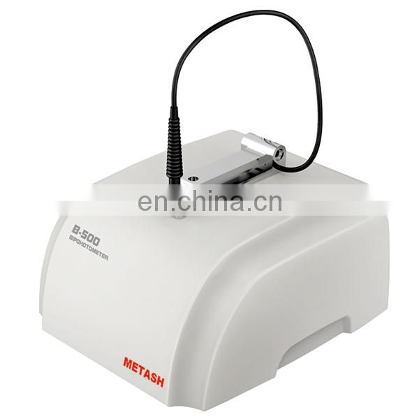 Ultramicro ultraviolet visible spectrophotometer