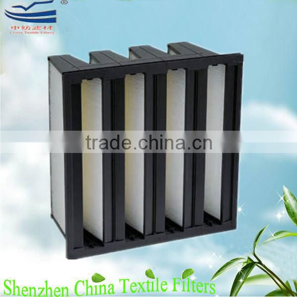 High efficiency mini pleat HEPA filter elements