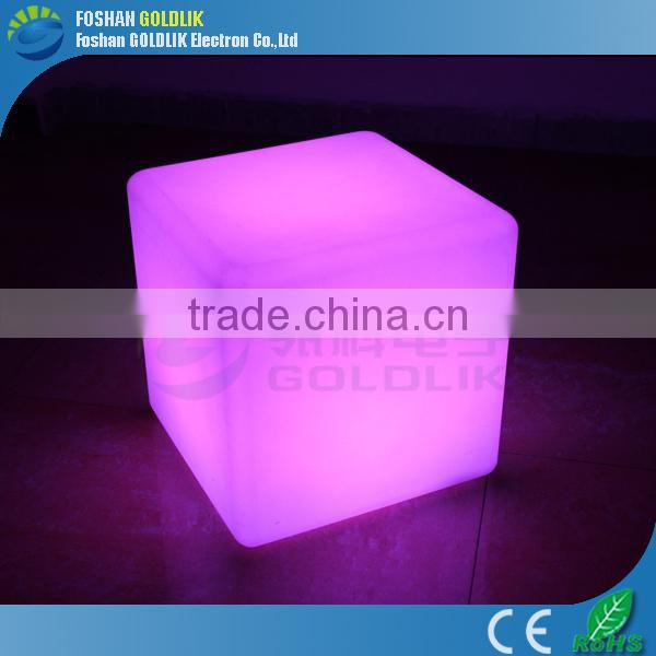 Glowing environmental protective led cube table GKC-040RT