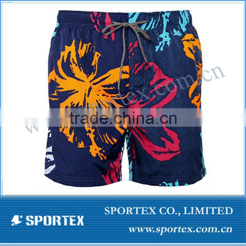 Mens leisure shorts custom with competitive price, polyster sport shorts