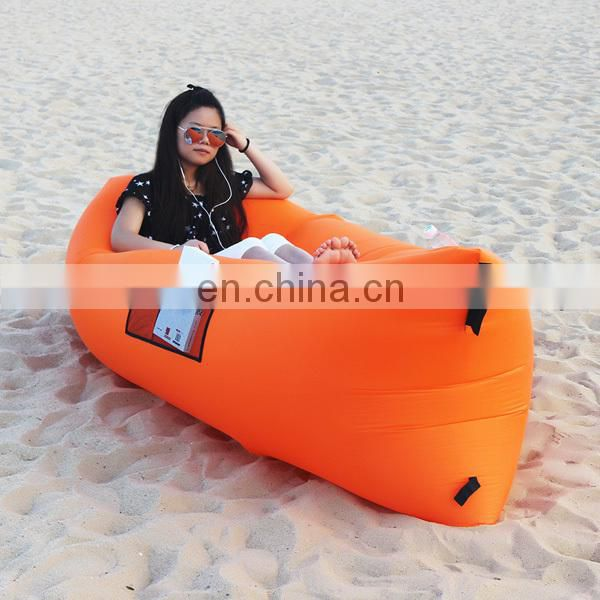 Inflatable hangout chair air sofa bag,outdoor camping sleeping lazy sofa,high quality lazy lounger bed