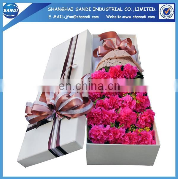 Full color printed custom paper flower gift box
