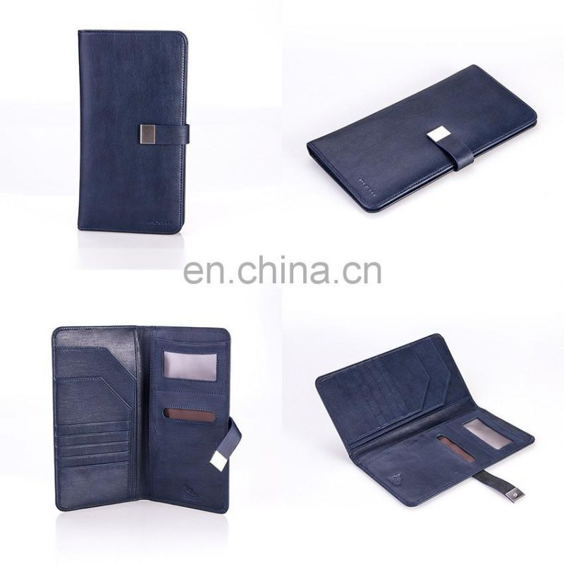 Leading Factory of Customized Leather Passport Pouch Holder PU Passport Folder