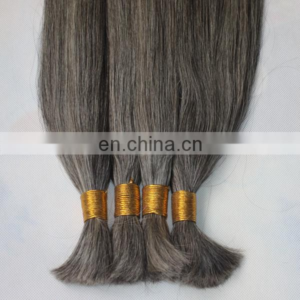 Customized hair extensions gray human hair special order available gray hair bulk