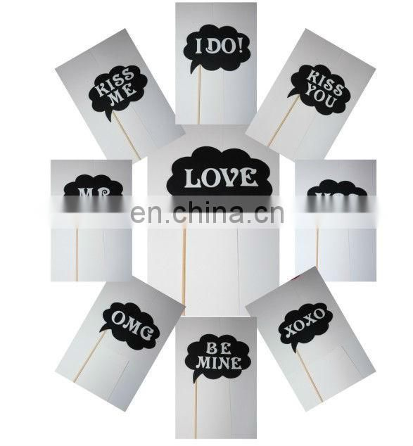 9pcs set wedding Party Photo Brooth Prop