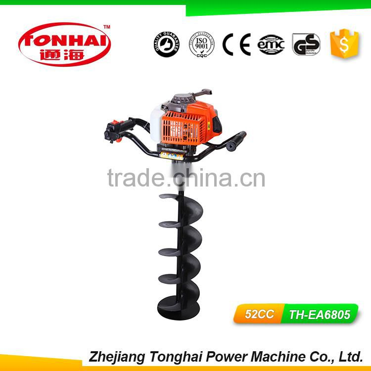 TH-EA6805 52CC gas powered post hole digger for tree transplanting chainsaw auger
