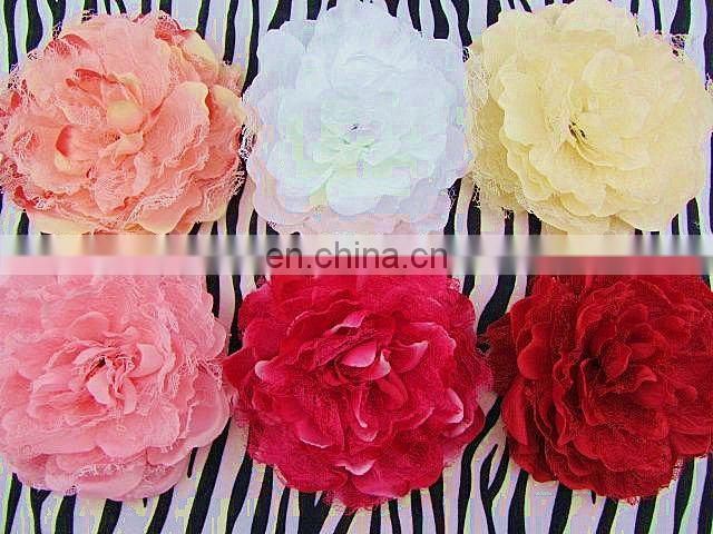 "5.5"" Large Laced Peony Flowers Silk Peony Flowers Brooch Hair Pin"