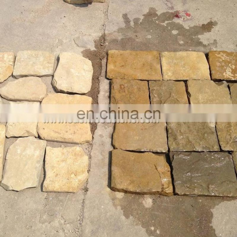 Sunny beige natural rectangle stone for interiors wall