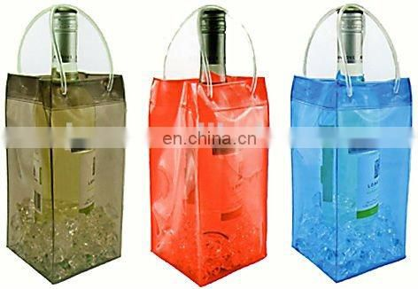 recyclable neon pvc wine bottle bag ice bag