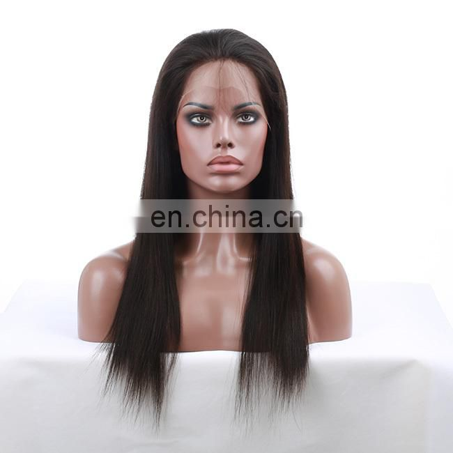 100% Remy Human Hair Indian Virgin Hair Wig Unprocessed Indian Full lace Wig
