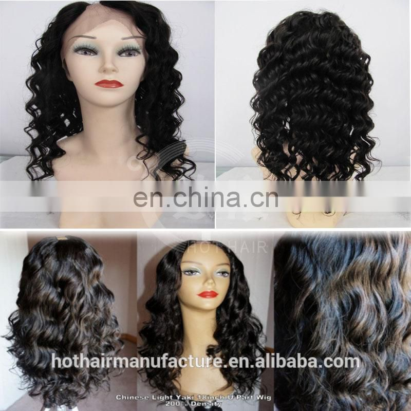 hot sale wholesale 100% virgin human hair u-part wig Brazilian hair blond u-part wigs 10-26inches u-part for black women