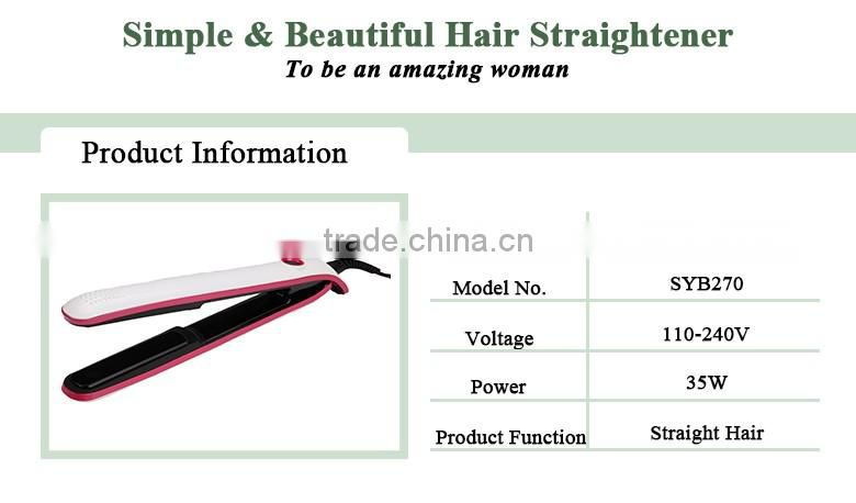 Hot selling LED titanium portable hair straightener china hairdressing