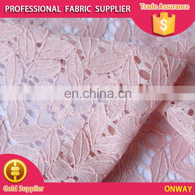 original design china textile women garment fabric nylon cord lace