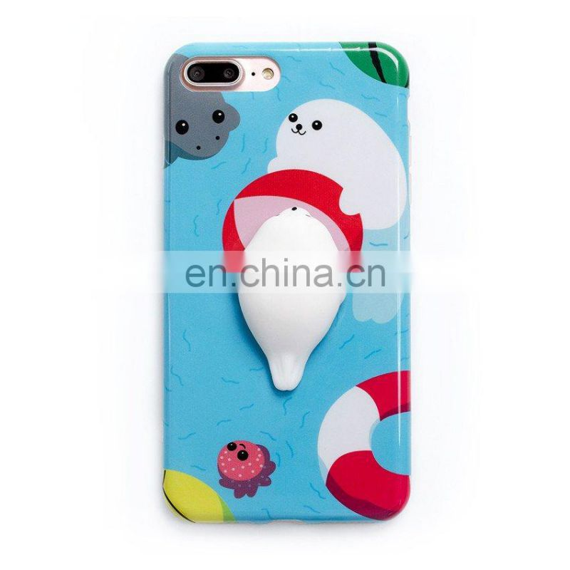 Manufacturer of Finger Pinch 3D Kneading Squishy Custom Design Free Sample Squishy Phone Case