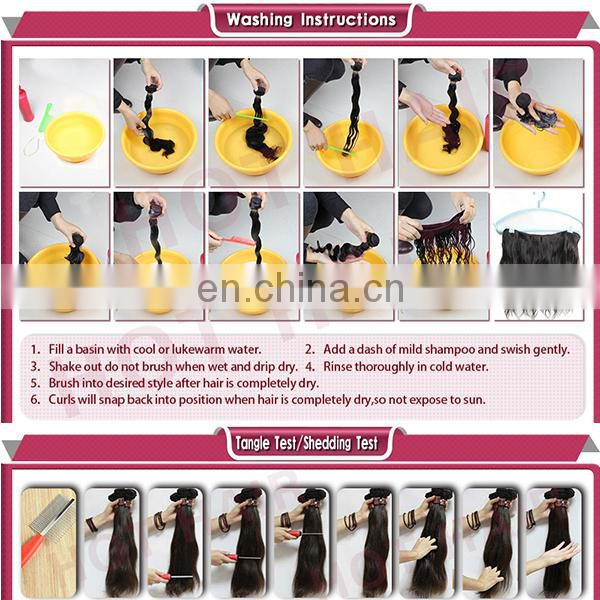 Free sample 2013 new products virgin brazilian full head clip in hair extensions
