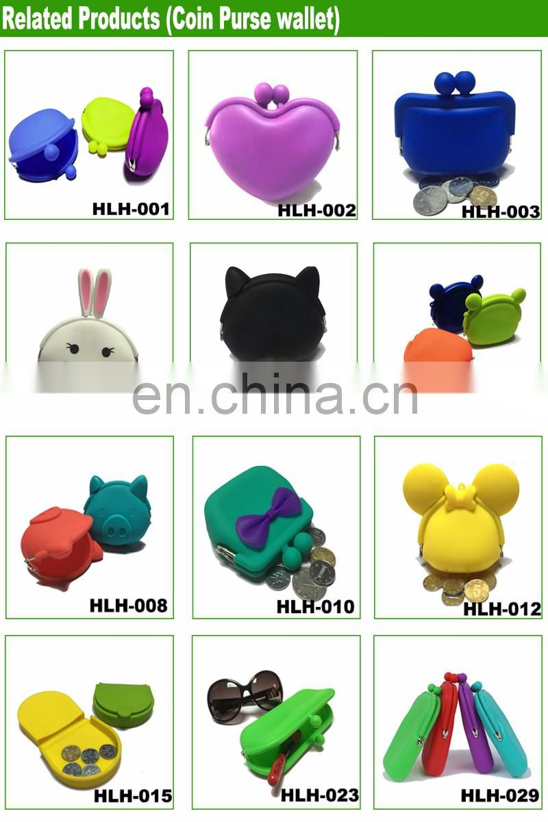 DURABLE NEW SILICONE RUBBER SQUEEZE COIN HOLDER KEY MONEY CHANGE PURSE