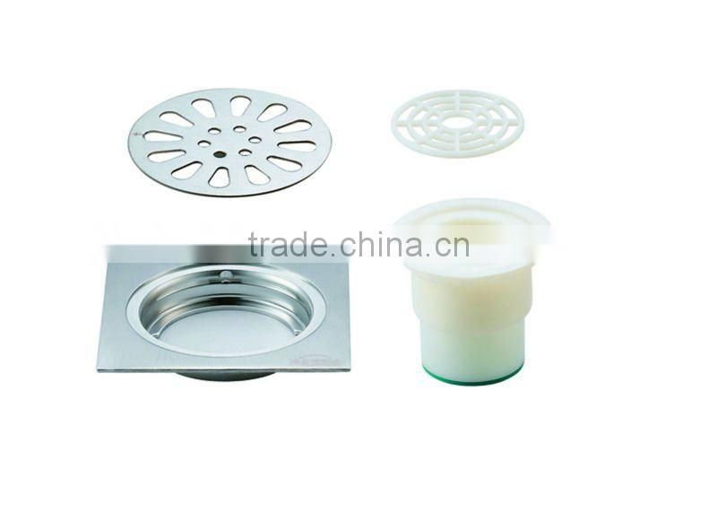 Stainless Steel Floor Drain B3104S .hot sale item,with PVC bottom,single use