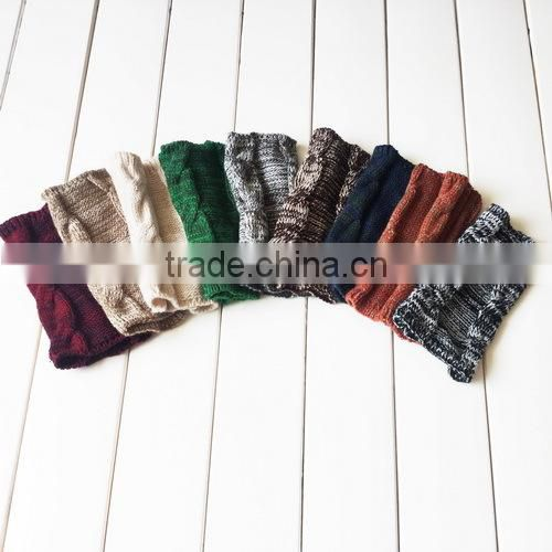 Snowflake Colors Knitted Leg Warmers,Boho Boot Socks, Leg Warmers,Vintage Knitted Boot Cuffs,