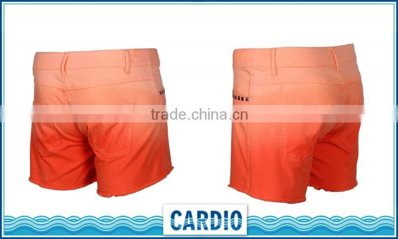 OEM Service Garment Wash Casual Orange Pants new cotton twill canvas casual chino mens walk shorts