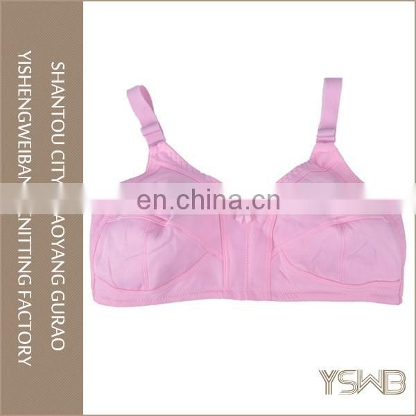 2016 new design eco-friendly pink cotton soft female bras