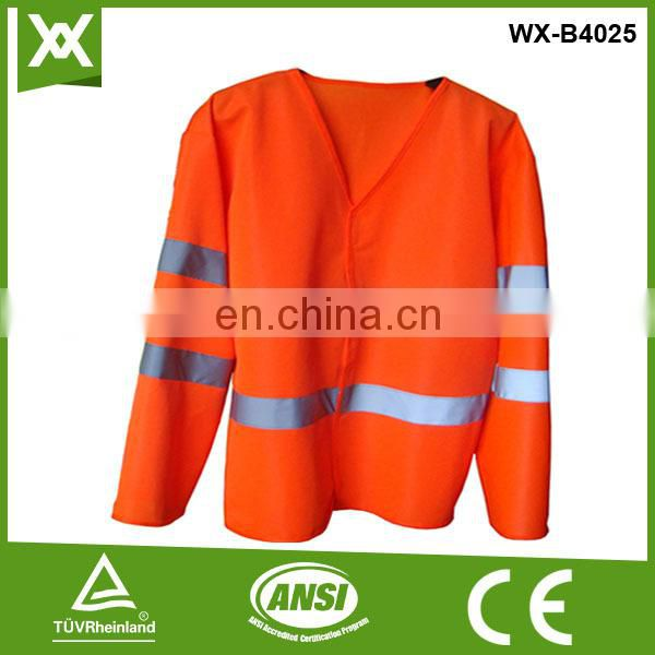 factory /suppliers polyester safety reflective sleeves design en471 tape security vest