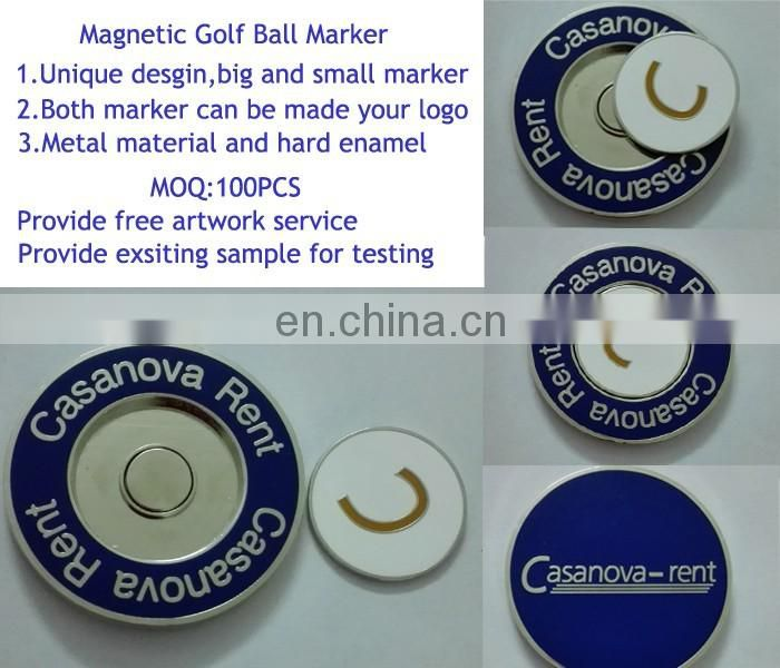Dongguan nade metal custom enamel golf ball marker medallion