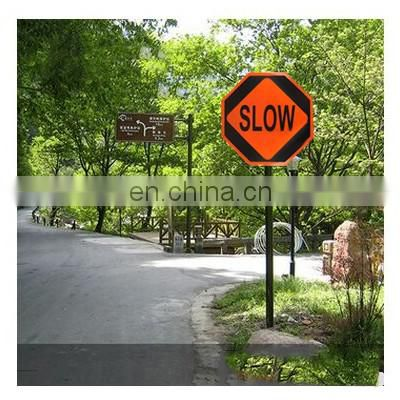 2017 traffic high quality double sided warning safety sign