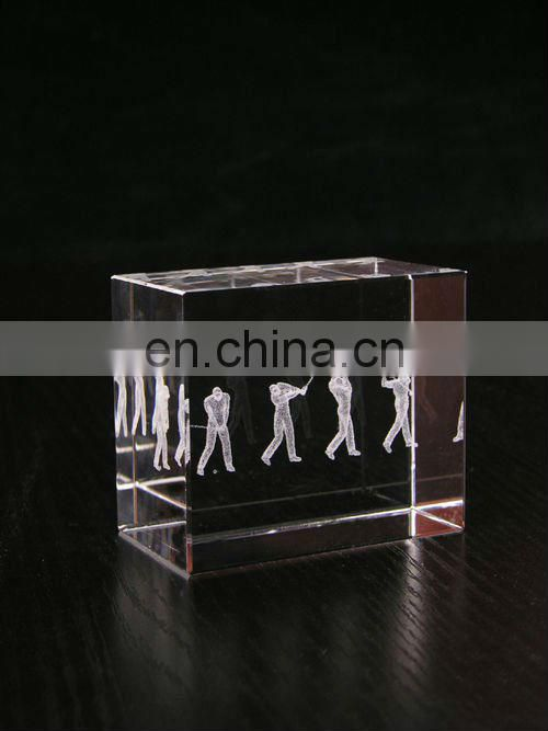 2013 crystal golf trophy award cup made in China