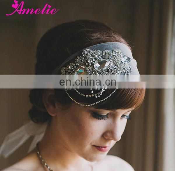 Crystal Beaded Belt Bridal Headband