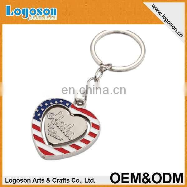 novelty items custom design metal spinning Ukraine gift souvenir keychain