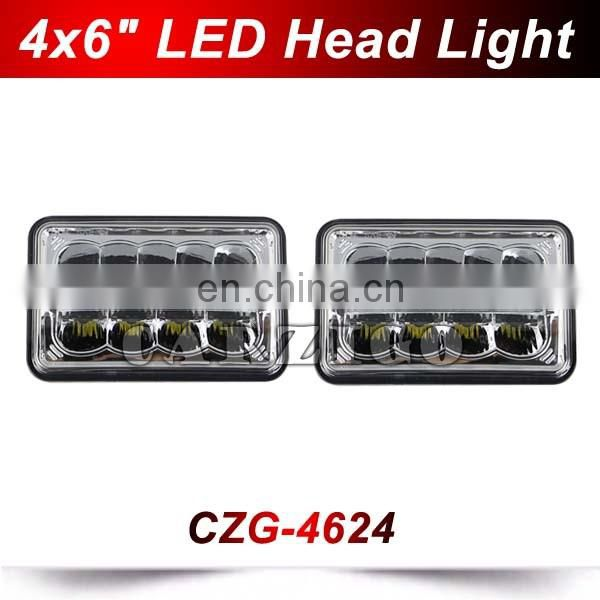 "24w 12v 24v 4x6"" led sealed beam headlight LED head light bulb for motorcycle"