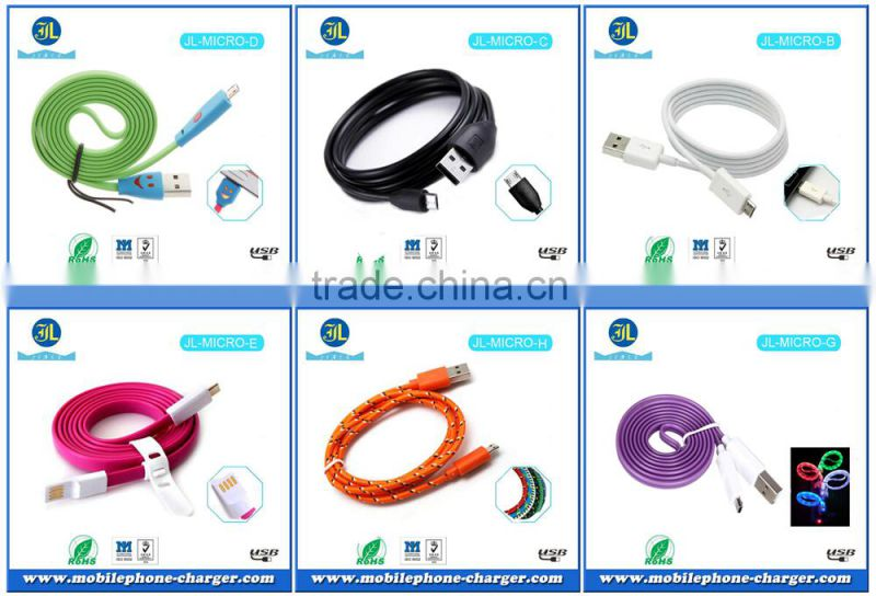 Colorful micro usb data cable electronic product sale smartphone cable connector used mobile phone