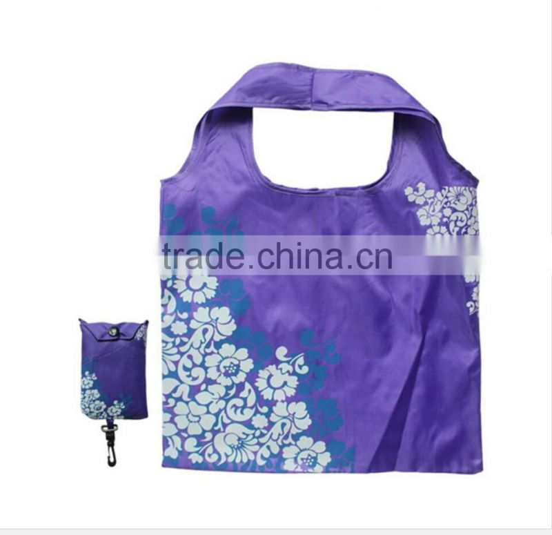 Folding Style and Polyester Material fashion polyester foldable shopping bag