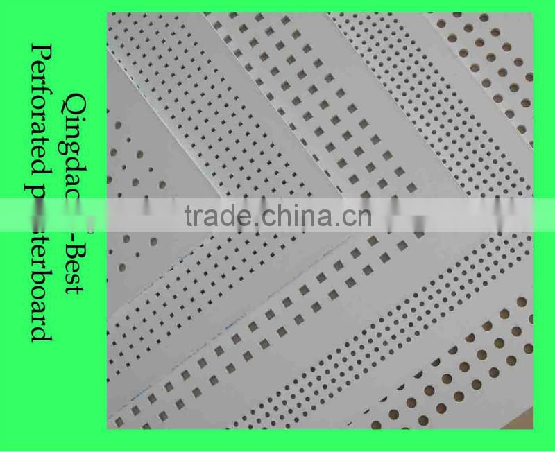 7mm Gypsum Perforated Acoustic Ceiling Tile Round Or Square Hole