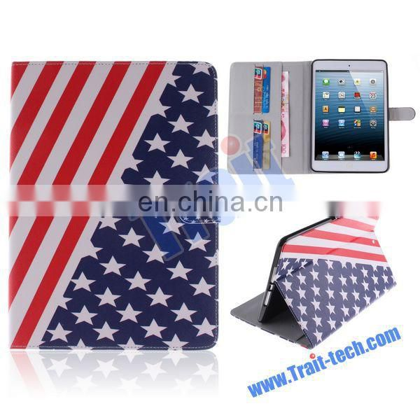 Wallet Style Magnetic Flip Stand TPU+ PU Leather Case for iPad Mini iPad Mini 2 iPad Mini 3