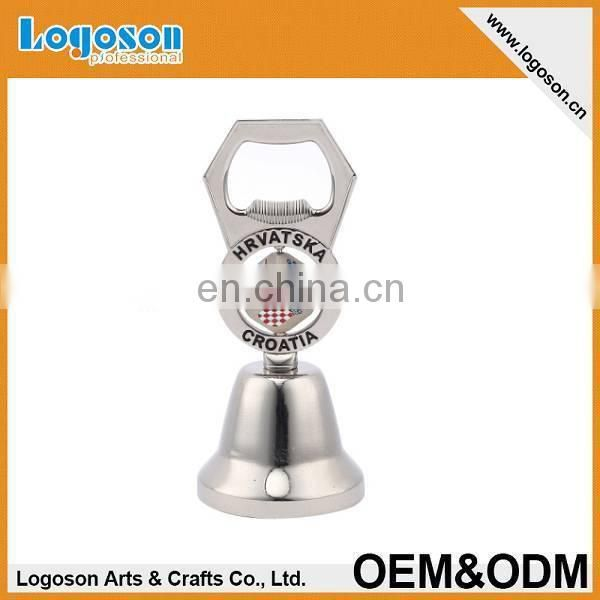 hotest items novelty souvenir gift custom design bottle opener metal bell