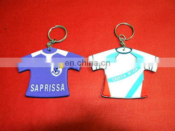 Brazil's uniforms Shaped custom color Sofe Pvc Keychain