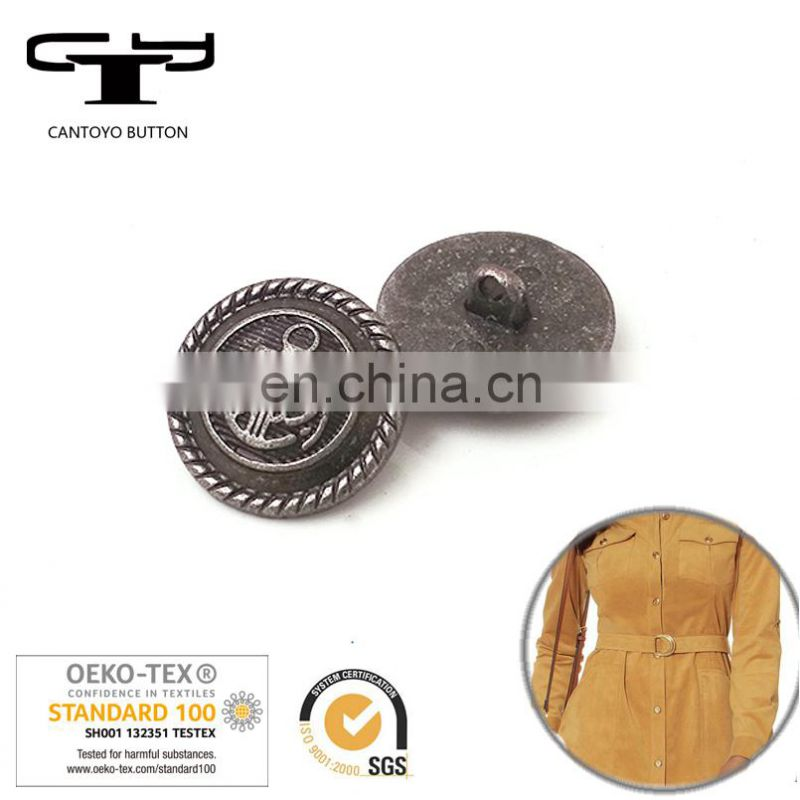 brass metal sew coat buttons supplier