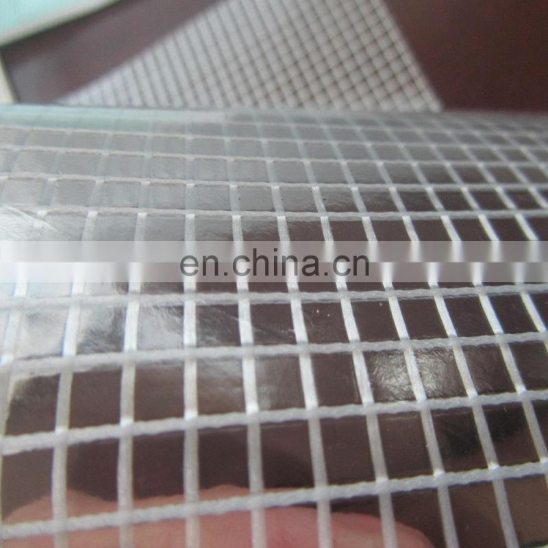 transparent mesh pvc coated fabric tarpaulin from China